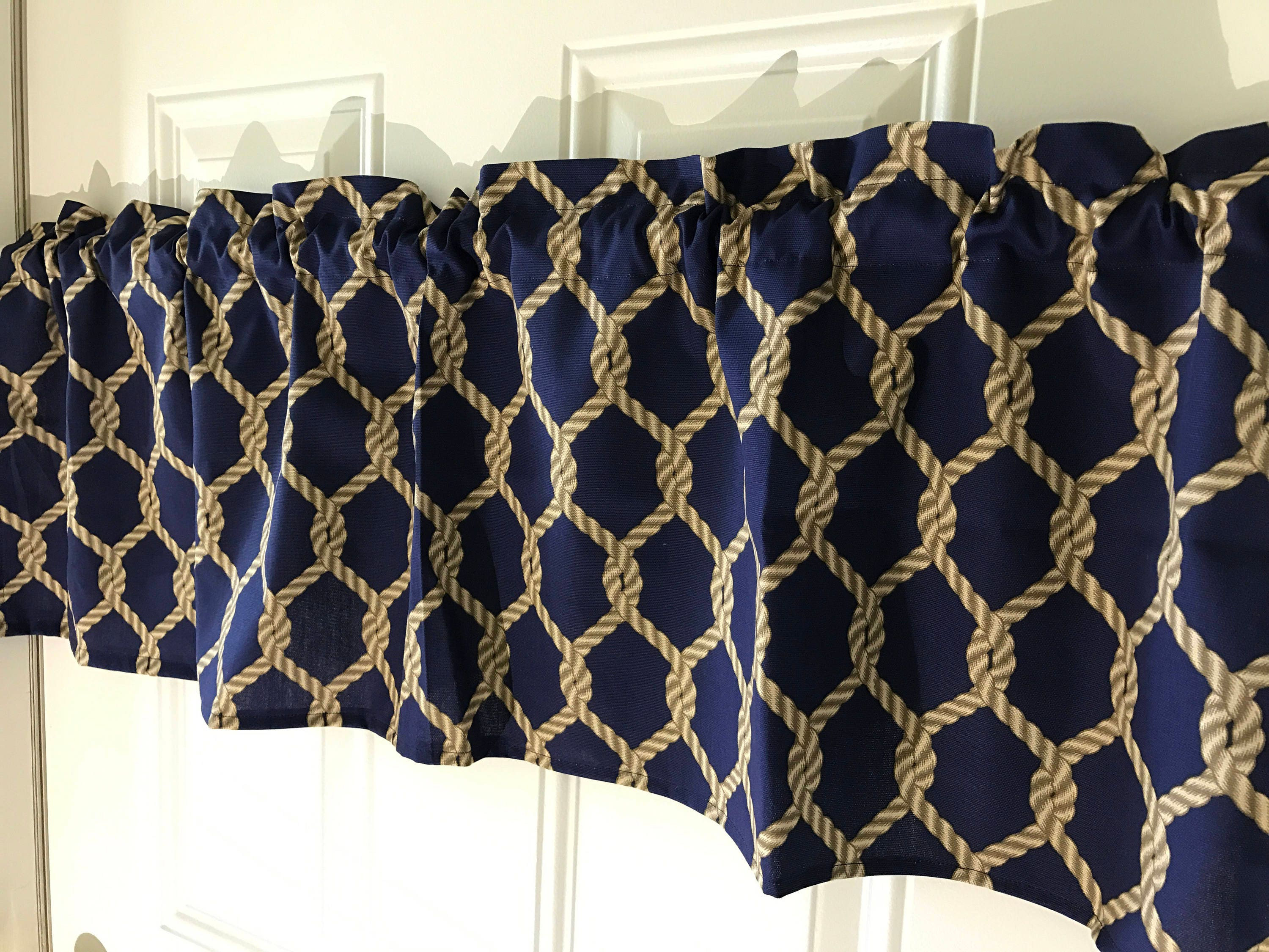 Nautical Inspired Rope Geometric Shape Curtain Valance