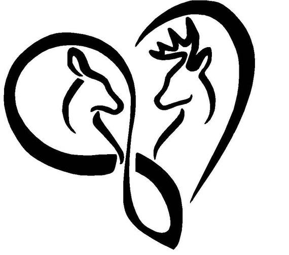 Download Buck and Doe Infinity Love Heart Vinyl Decal window laptop
