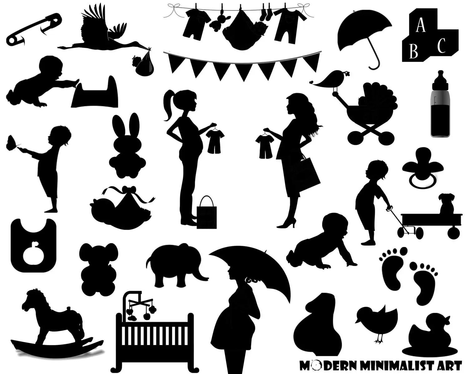 Baby Clipart Black 26 Images From