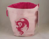Pink Dragon on light pink...
