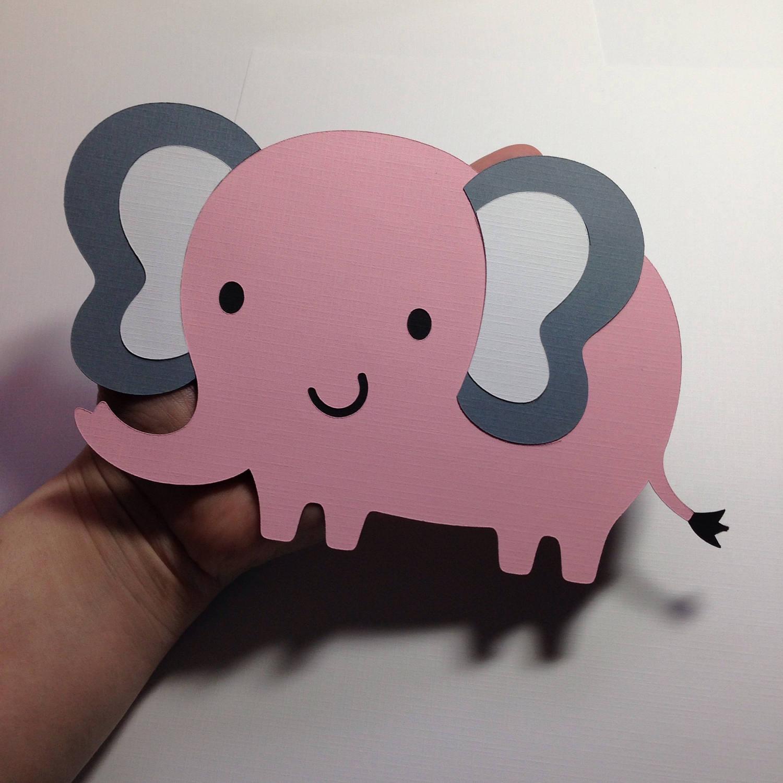 Large Elephant Cut 5 Inch Paper Elephant Cut Outs
