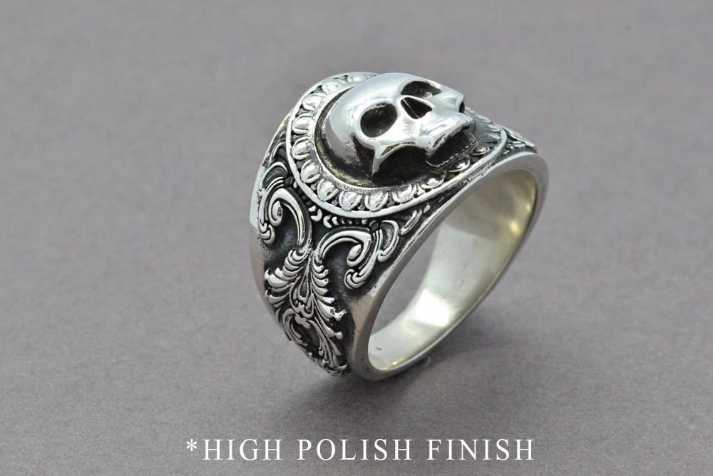 The Reaper Ring Skull Ring Sterling Silver Ring Mens