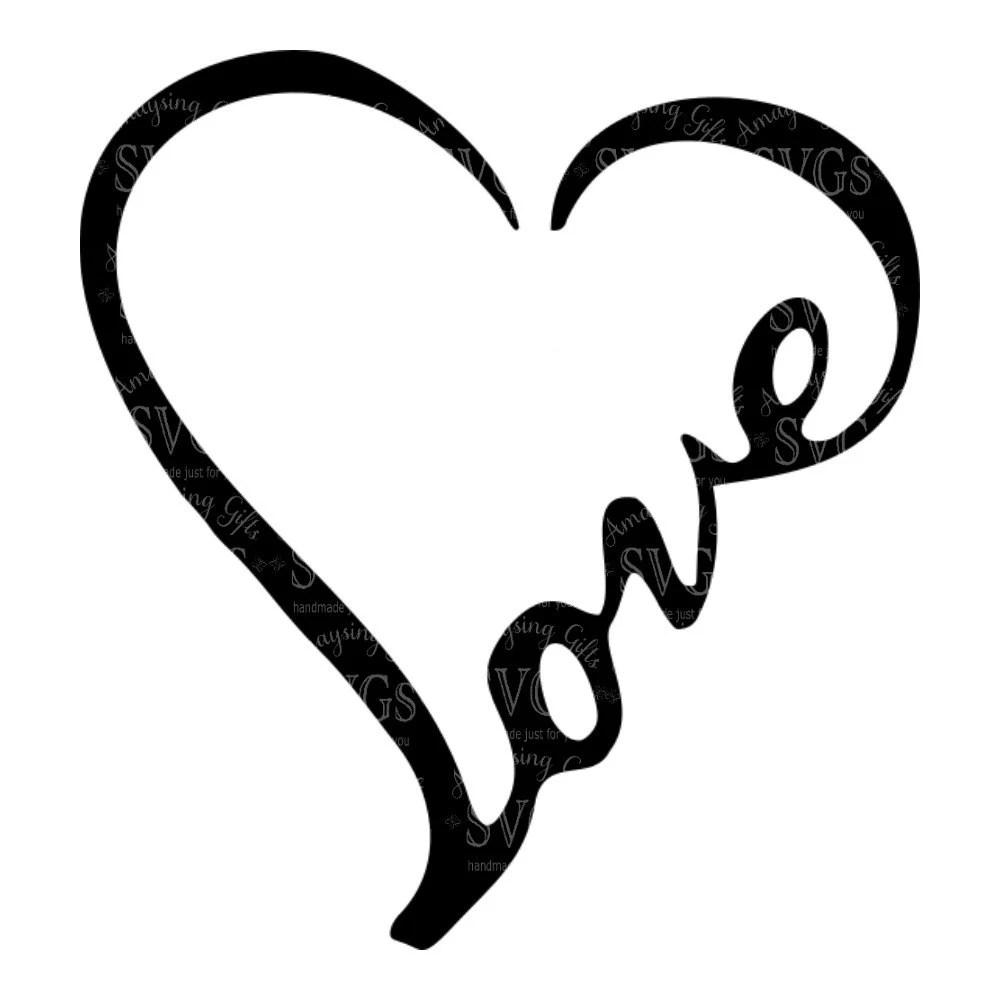 Download SVG - Love Word Heart - Love - Heart - Wordart - Love ...