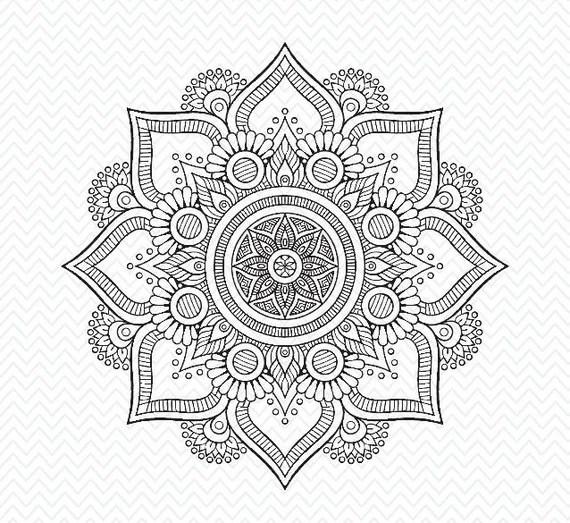 Download Hand made mandala flower, cricut design, silhouette studio ...
