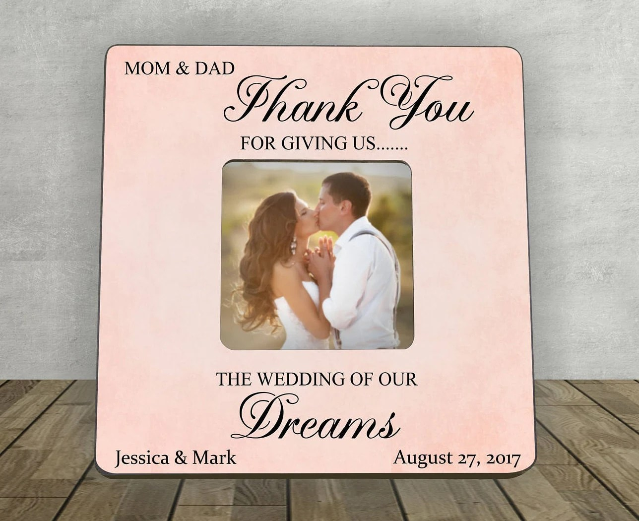 Parents Thank You Wedding Gift Personalized Picture Frame