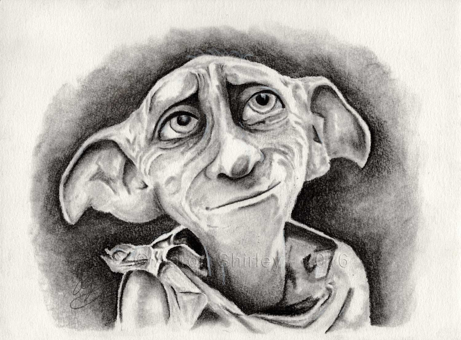 Harry Potter Art Harry Potter Drawing Dobby Charcoal