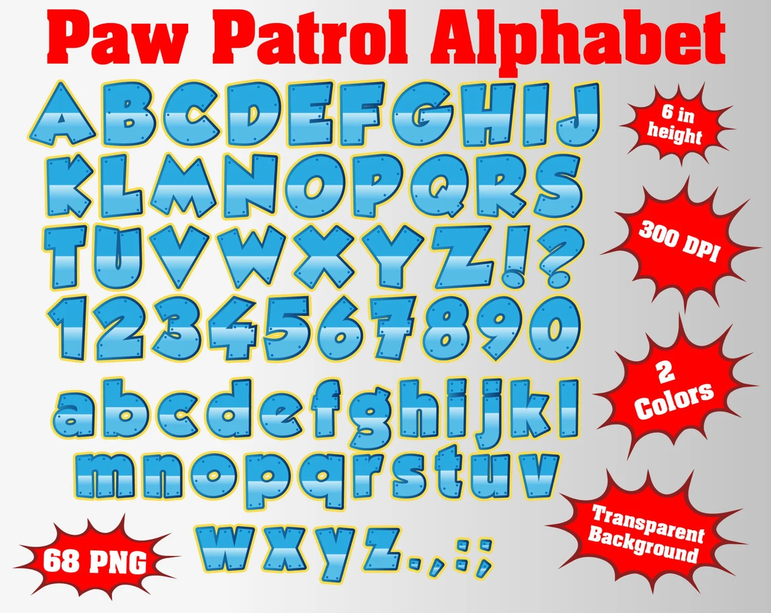 Paw Patrol Full Alphabet Numbers And Symbols 68 Svg