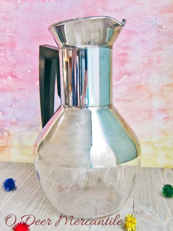 Carafe~ Corning Brand Heat Proof Glass Mid Century Coffee Tea Server Decanter
