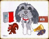 Dog Drawing, Personalized...