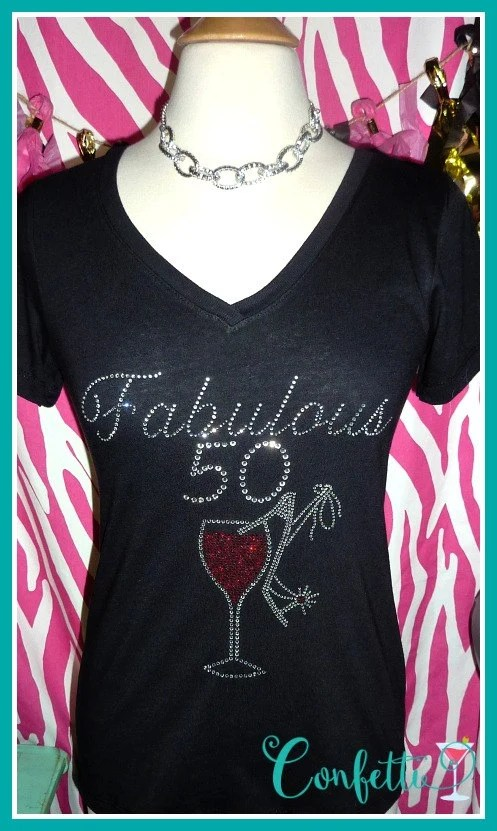 Tshirts Birthday Bling Jpg 570x953 50th