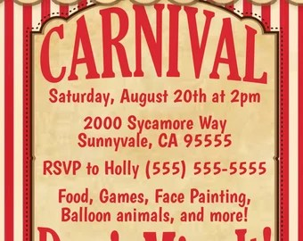 blank carnival flyer template free download