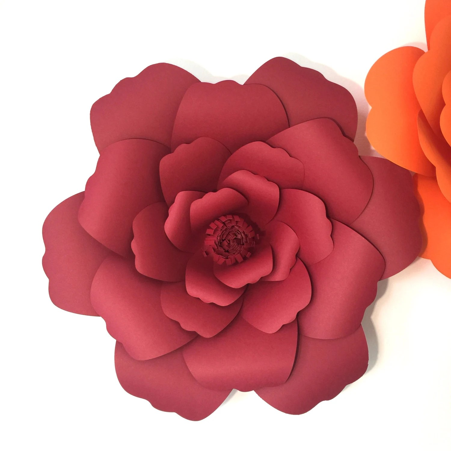 DIY Giant Paper Flower Digital Template PDF And SVG Wavy