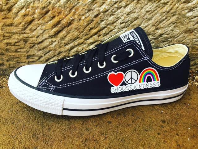 Rainbow Converse Etsy