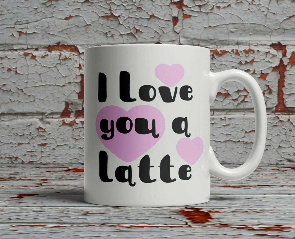 Download 4 I Love You a Latte designs, svg dxf pdf cut file for ...