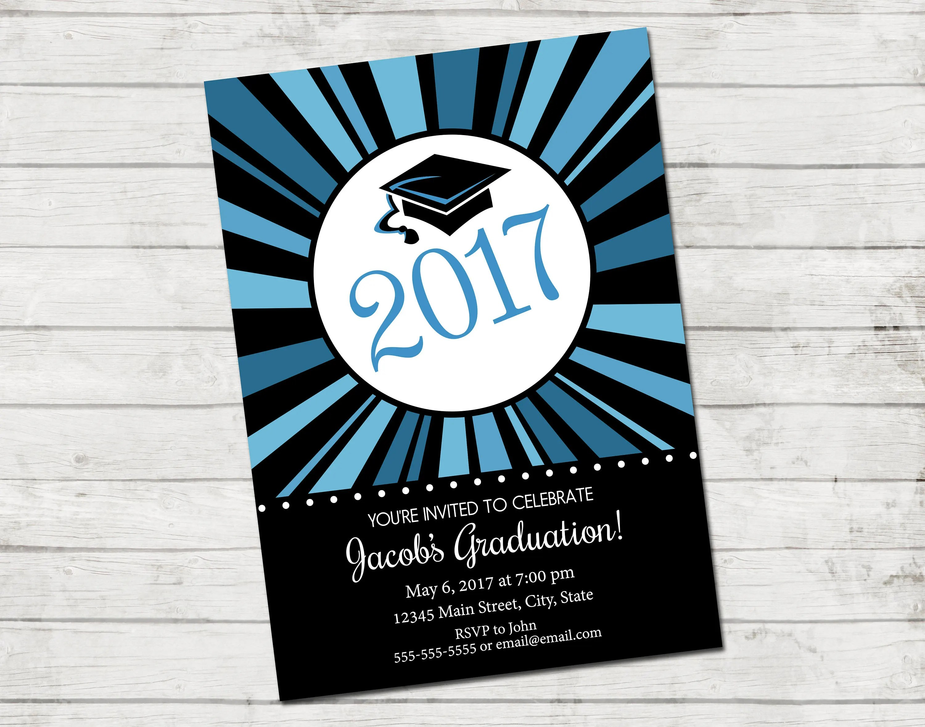 Printable Graduation Invitations 2017