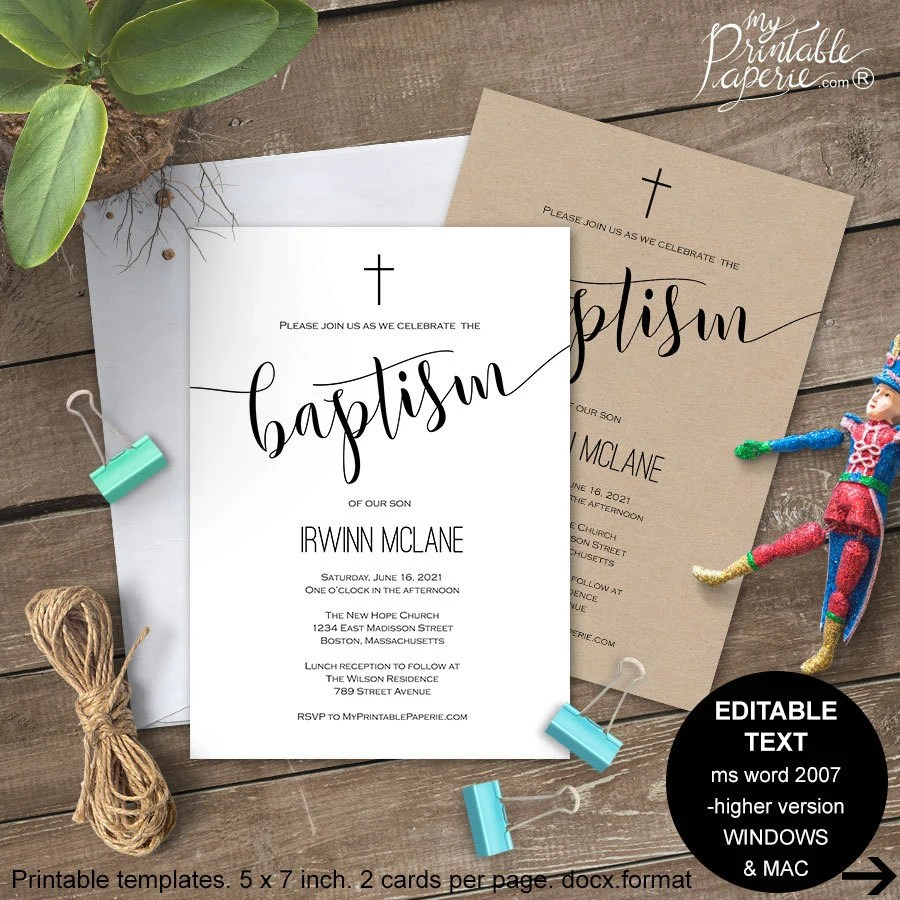 Make My Own Christening Invitations