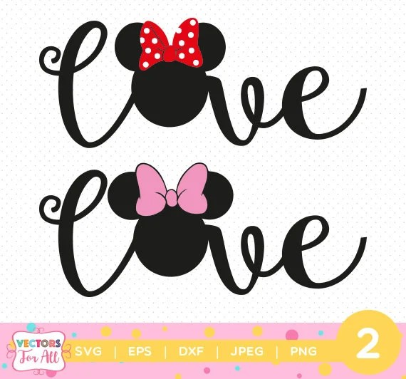 Download Minnie Mouse Love SVG, Minnie Mouse Love SVGs Monogram ...
