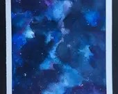 Blue Galaxy 2 watercolor ...