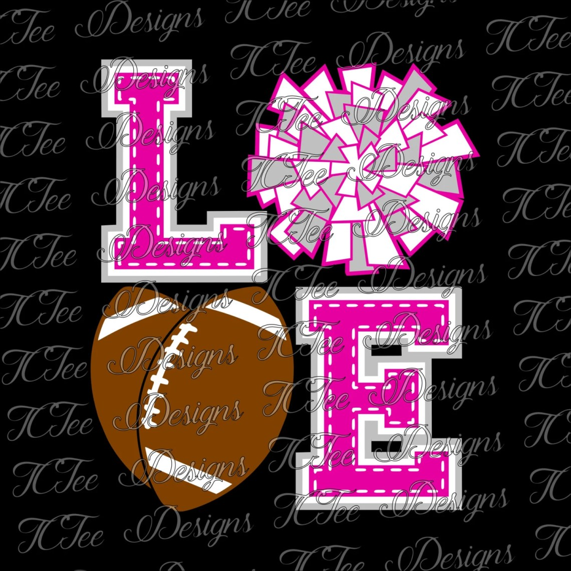 Download Love Football and Cheer Cheer and Football SVG File Vector