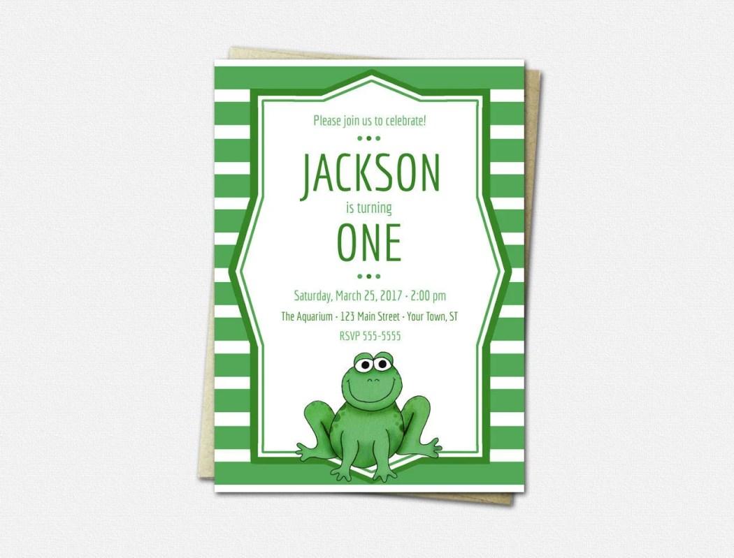 Frog Invitations - Birthd...