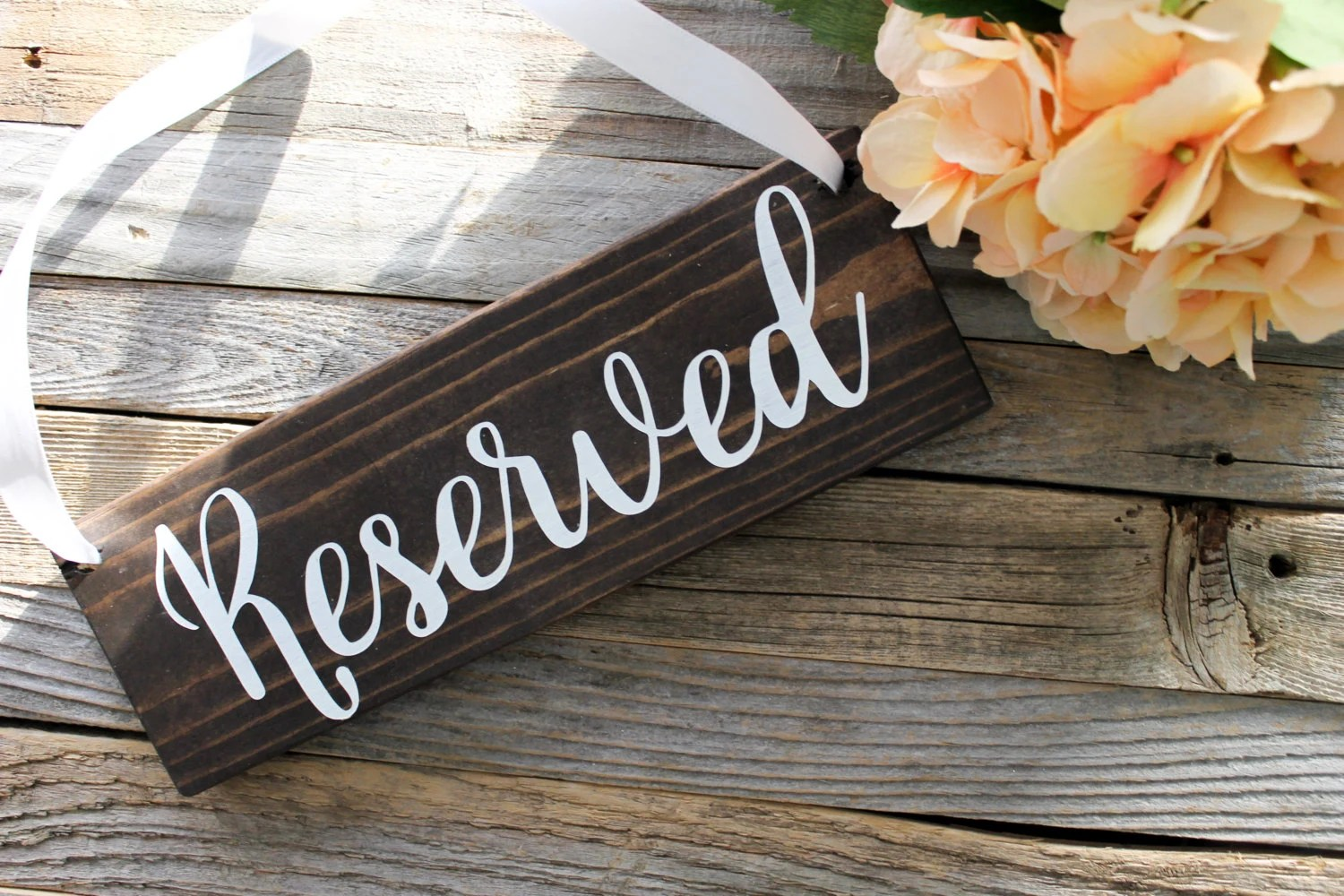 Reserved Wooden Sign Rustic Wedding Decor Wooden Wedding