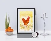 Chicken Art Print - Alcoh...
