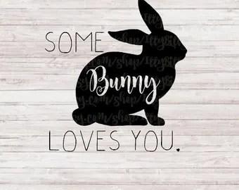 Download Bunny loves you svg | Etsy