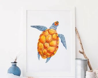 turtle bathroom | etsy