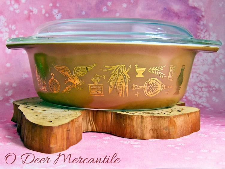 Pyrex Oval Casserole Dish Early American Pattern: Pyrex Ovenware 1 1/2 Quart Dish With Glass Lid