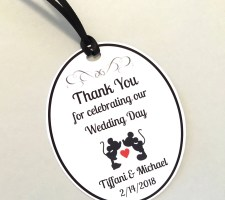 Disney Wedding Favor Tags, Mickey & Minnie Thank You