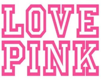 Download Pink Love Pink Polka Dots Victoria Secret Themed Banner A to Z