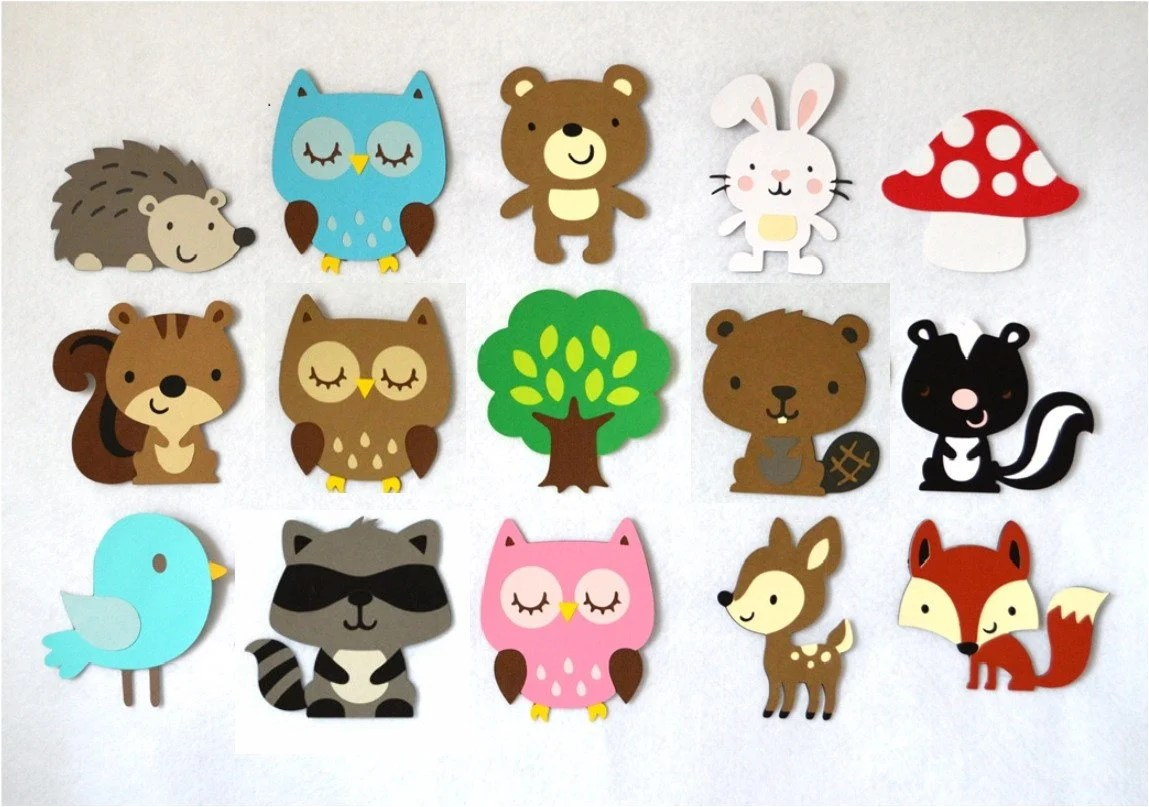 Large Forest Animal Cut Outs Customize Your Set Diy Wall Art