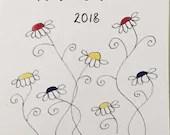 2018 Watercolor & ink Flo...