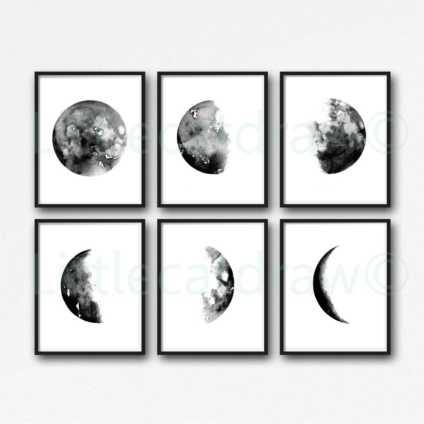 Black And White Wall Paintings Print
