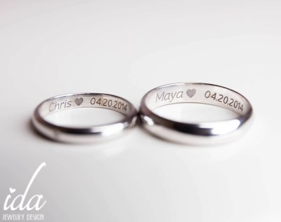 His and Her Promise Rings For CouplesWedding Band Set White