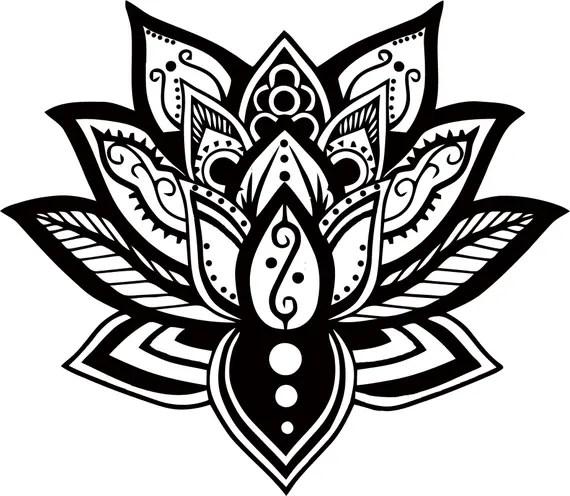 Download Lotus Mandala SVG Digital Download