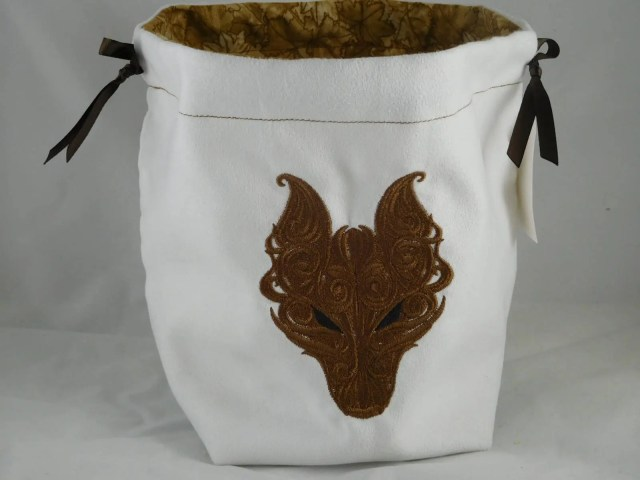 Brown Dark Wolf Embroider...