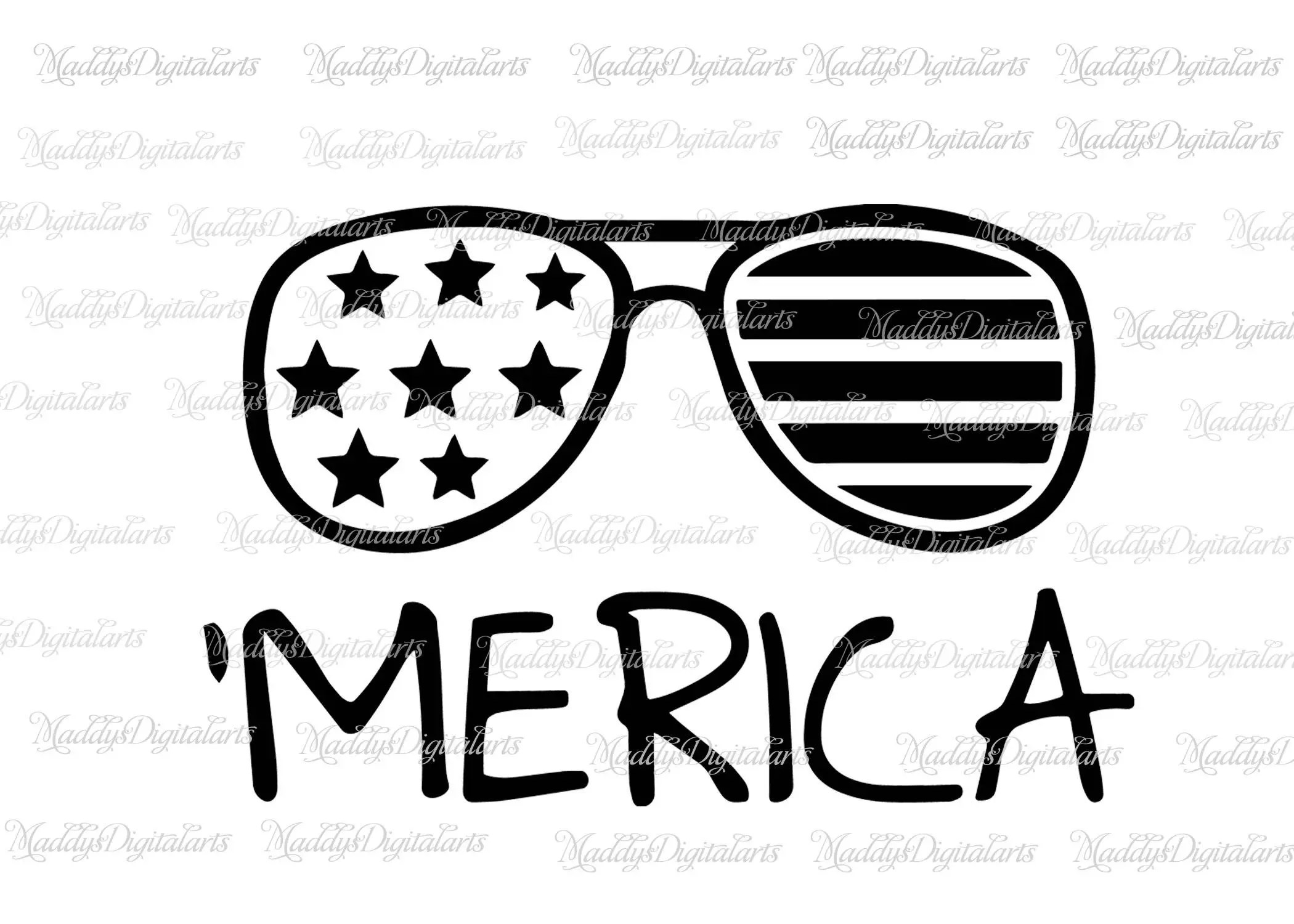 Merica Svg Fourth Of July Svg Patriotic Svg Sunglasses Svg