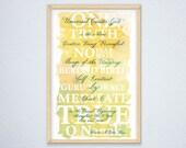 Mool Mantra Print Poster ...