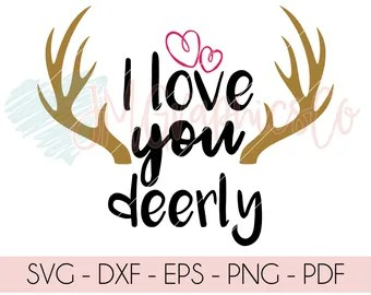 Download Love you deerly svg | Etsy