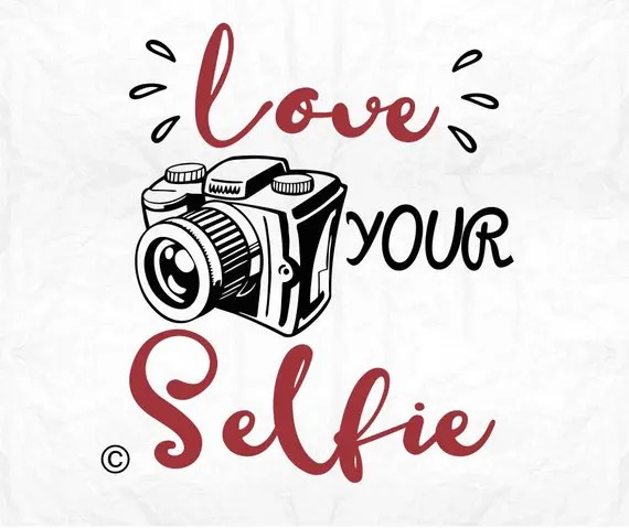 Download love your selfie camera SVG Clipart Cut Files Silhouette Cameo