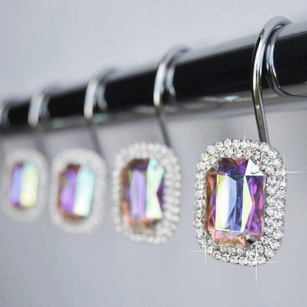 Shower Curtain Hooks Rings Clear Highest Quality 1