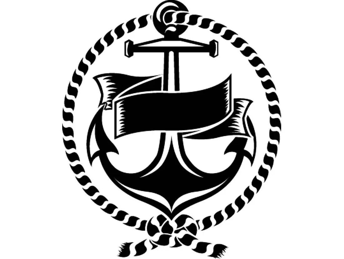Anchor Logo 5 Rope Banner Ship Boat Nautical Marine Sailing