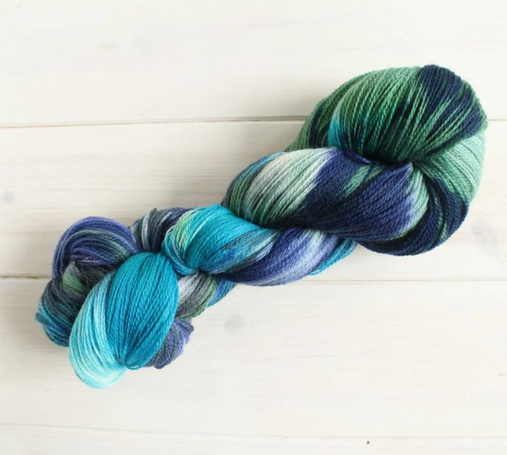 Hand dyed yarn Before the...