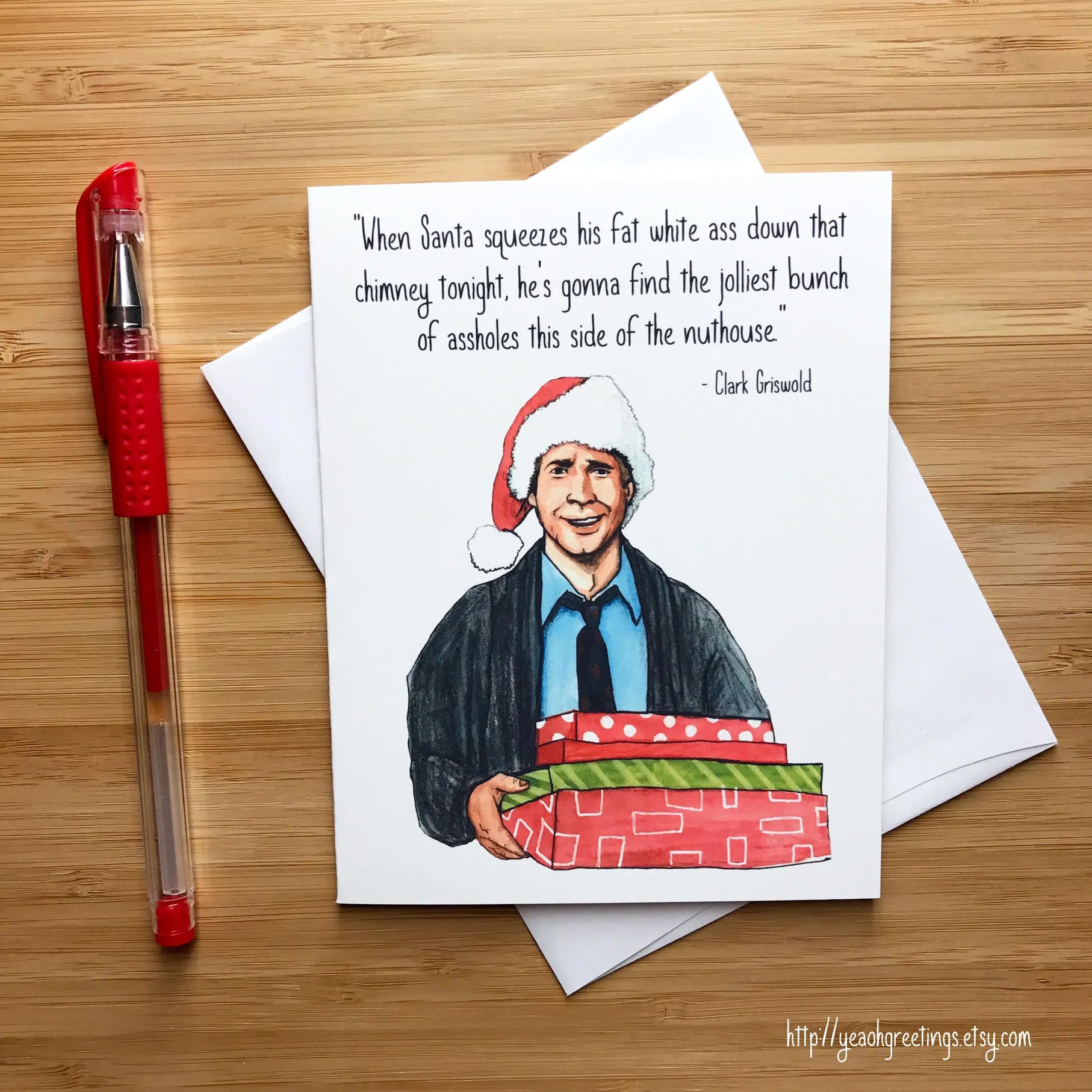 Funny Christmas Card Christmas Vacation Chevy Chase Clark
