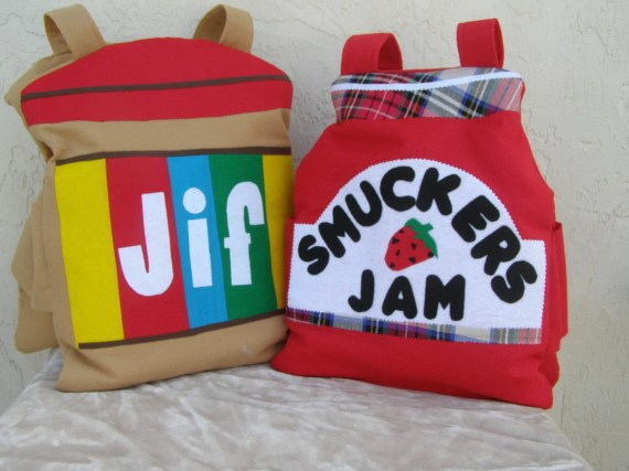 peanut butter and jelly costume for twins
