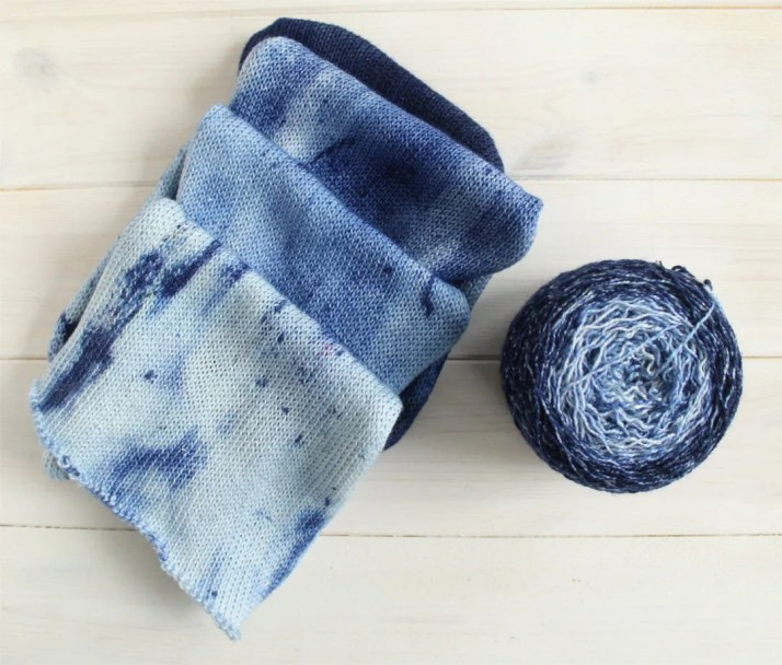 Hand dyed gradient cake y...