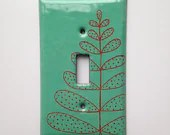 Enamel fern light switch ...