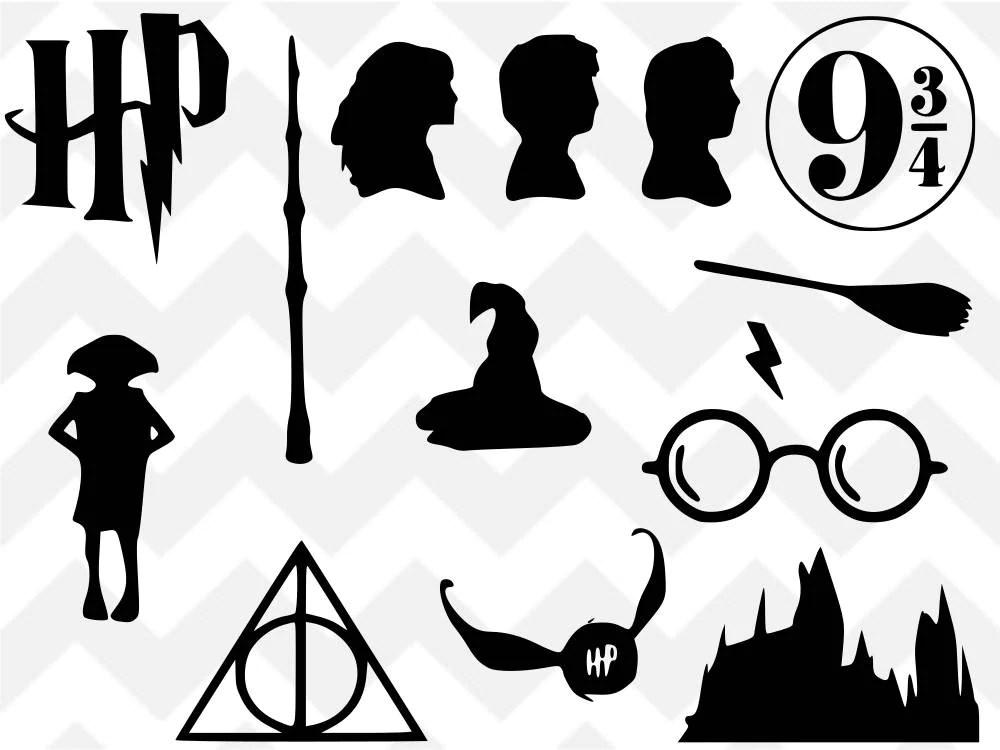 Download Harry Potter SVG Harry Potter Bundle Deathly Hallows SVG