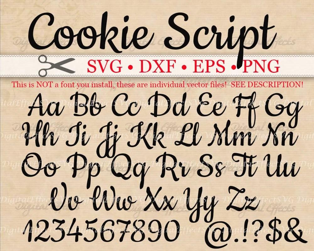 Simple Cursive Fonts Alphabet